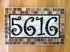 Mosaic Address Plaque Address Plaque House by melissaforcier