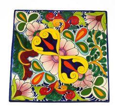 talavera square dishes | Talavera_Platters-Talavera Square Platter : Item #100707