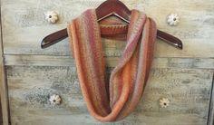 Springtime Hand-Knit Wool Infinity Scarf