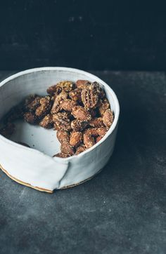 Maple, Vanilla, Flax Roasted Almonds and Pecans via Top With Cinnamon