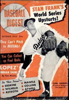 baseball digest covers | Baseball Digest - October 1952