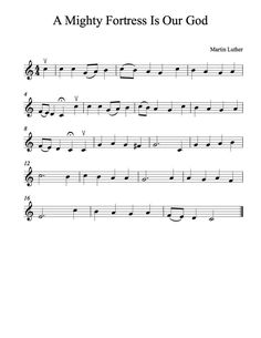 Free Violin Sheet Music - A Mighty Fortress Is Our God