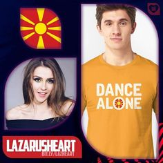 """My ESC #Top10 01 #lazarusheart  Macedonia - Jana Burčeska - """"Dance Alone""""  Let me get this straight  I dont think this will win  itll be lucky to even qualify for the Saturday night final  but it is my absolute favourite song this year. Imagine if @Dragonetteband or @MayavonDoll wrote a song for Eurovision  this would be it! Its sexy. Its sassy. Its absolute perfection and Im going to spend the rest of the year using the pavement as my catwalk!! #VoteJana!!   Available now at @Redbubble - on…"""