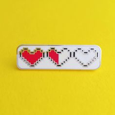 Heart Container Enamel Pin Badge Zelda Pin Geek Badge Lapel Pin ($9.20) ❤ liked…