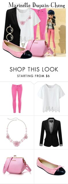"""Marinette Dupain-Cheng (Miraculous Ladybug)"" by fabfandoms ❤ liked on Polyvore featuring J.Crew, Mixit, J.TOMSON, Babe and Karen Kane"