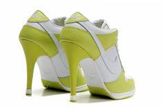 cf730606925 Nike heels fashion shoes for girls white green