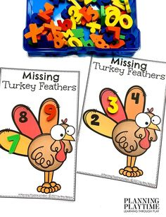 Fill in the Missing Numbers in sequence. - Kindergarten Morning Tubs