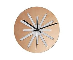 Настенные часы - металл - золотой, 25х25х3 см
