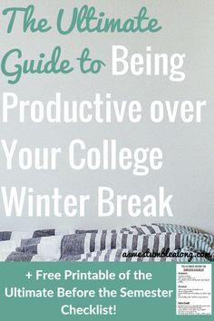 Want to do more about break besides sleep in? You don't have to sit around Netflix all day! Here's what you can do to be productive over your college winter break