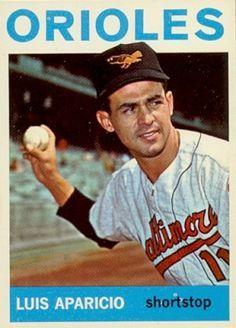 Luis Aparicio 1964 Topps Baseball ML Card # 540 Baseball Videos, Baseball Tips, Better Baseball, Baseball Art, Basketball Rules, Basketball Shooting, Baseball Pictures, Basketball Court, Baseball Card Values