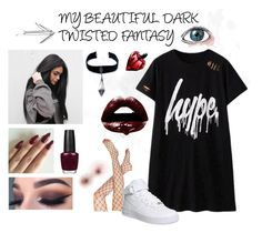 """""""Yeezy Vampire"""" by simonel91 on Polyvore featuring ASOS, NIKE, Child Of Wild, Andy Warhol, OPI and Joe's Jeans"""