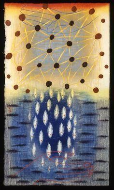 """""""Precipitate"""" by Karen Kunc (woodcut, etching & screenprint)"""