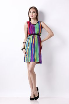 Mix of two fashion slassy ... MESSY STRIPES printed dress in a very comfortable and easy to carry design @ 999  Grab this pcs now @ www.snapdeal.com you can also inbox us on www.facebook.com/hermosear