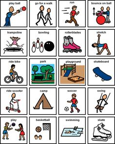 Visual Schedule(s) PECS, First-Then-Next boards, Choice boards Physical Activities For Kids, Autism Activities, Autism Resources, Autism Apps, Movement Activities, Summer Activities, Pecs Pictures, Pecs Communication, Special Education