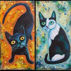 Two Cats SOLD | copyright 2013 Christina Colwell | Christina Colwell | Flickr Cat 2, Painting, Art, Art Background, Painting Art, Kunst, Paintings, Performing Arts, Painted Canvas