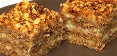 Prajitura Cu Nuci – Famous Last Words Romanian Desserts, Romanian Food, Cookie Recipes, Dessert Recipes, Peanut Sauce Recipe, Hello Fresh Recipes, Sicilian Recipes, Yummy Food, Tasty