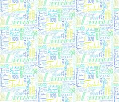 Quotes from a Madman in a Box fabric by majoranthegeek on Spoonflower - custom…