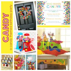 candy themed first birthday | Who Wants Candy?! A Candy-Themed Birthday Party | The Party Dress