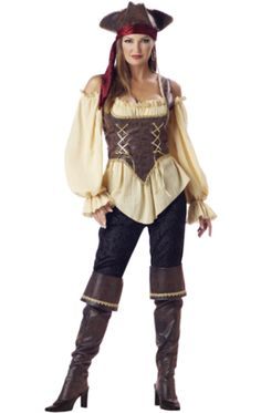 Elite Quality Rustic Lady Pirate Costume £94.95