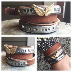 Your Wings were Ready My Heart was not triple wrap adjustable Bracelet – Heather Hansen Designs
