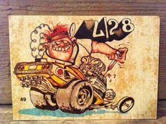 Odd Rods Stickers | 1970s Odd Rods Stickers - STIMPY