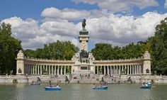 Monument to Alfonso XII of Spain in the Retiro Park, Madrid,