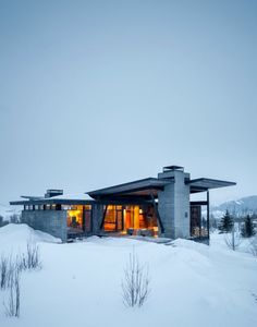 Mountain Landscapes: Spectacular Winter Property   IKEA Decoration