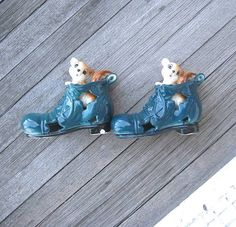 Ceramic Squirrel-in-Boot Decoation Japan  Mini by MintysMercantile