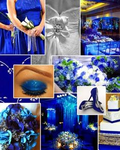 Royal blue themed wedding