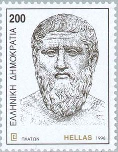 Plato Postage Stamp from Greece Famous Philosophers, Father Photo, Platonic Solid, Wise People, Famous People, Quotation Marks, Mail Art, Stamp Collecting, Travel Posters