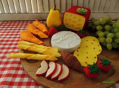 Felt Food Bar Restaurant Decor Felt Cheeses Fruits Tomato