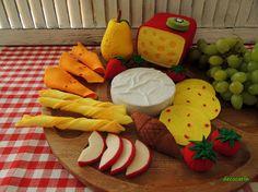 Felt Food Bar Restaurant Decor Felt Cheeses Fruits Tomato