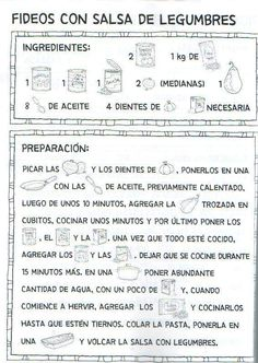 Mamy enamorada: Libro de recetas para niño casero. parte 1º Las recetas. Spanish Words, Word Study, Journal, Album, Chocolate, Master Chef, Mini, Google, Food
