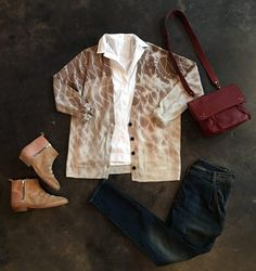 4 Ways to Style Your Favorite White Shirt: Raquel Allegra Tie Dye Cardigan