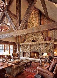 Antique rough sawn beams