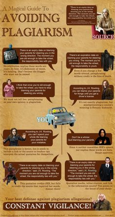 Harry Potter helps describe - and avoid - plagiarism. Ahhahahaha. I need this in poster form.