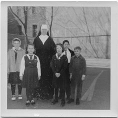 sister with a class of children