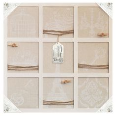 Wall Decor Collection Distressed Wood Wall Memo Bulletin Board – lightaccents.com