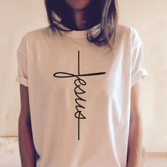 Jesus Vertical Symbol T shirt