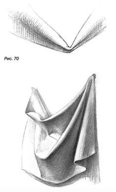 Drapery Drawing, Fabric Drawing, Painting & Drawing, Pencil Shading Techniques, Drawing Techniques, Art Drawings Sketches Simple, Pencil Art Drawings, Geometric Shapes Art, Art Basics