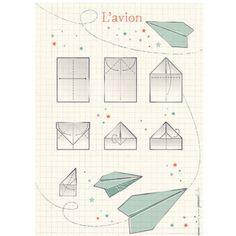 avion en papier origami on pinterest simple. Black Bedroom Furniture Sets. Home Design Ideas