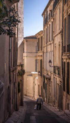 The old streets of Montpellier, France