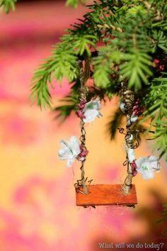 Fairy Garden House Swing