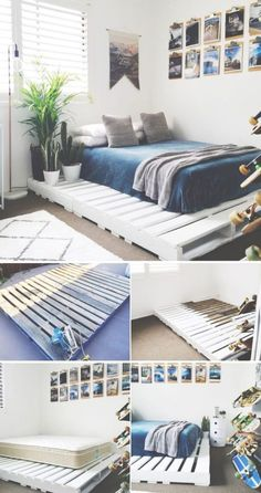 36 Easy DIY Bed Frame Projects to Upgrade Your Bedroom 15 DIY bed frames The post 36 Easy DIY Bed Frame Projects to Upgrade Your Bedroom appeared first on Wohnung ideen. bed frame 36 Easy DIY Bed Frame Projects to Upgrade Your Bedroom - Wohnung ideen Diy Pallet Bed, Pallet Bed Frames, Wood Pallet Beds, Beds On Pallets, Wooden Bed Frame Diy, Bed Made From Pallets, Pallet Room, Wooden Pallet Furniture, Wooden Pallets