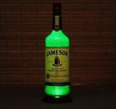 6353812680 Jameson Irish Whiskey Bottle Lamp Bar Light 11 Year LED - Intense Sparkle &  Glow St Patricks Day