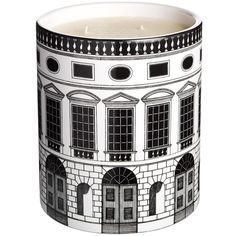 Fornasetti 'Architettura - Otto' Large Candle (151.040 HUF) ❤ liked on Polyvore featuring home, home decor, candles & candleholders, candles, decor, filler, no color, scented candles, fragrance candles et lilac scented candles