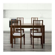 """BJURSTA / BÖRJE Table and 4 chairs, brown, Gobo white, 55 1/8 """" $395.00"""