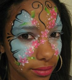 face painting pictures | Fab Faces face painting - Girly girls!