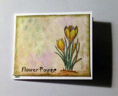 Chocolate Baroque - Spring Bird Crocus Stamp sheet DL