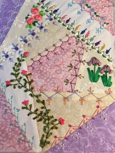 Crazy Quilt Beginners Class 2014 - Almost finished, just need to bling it up.